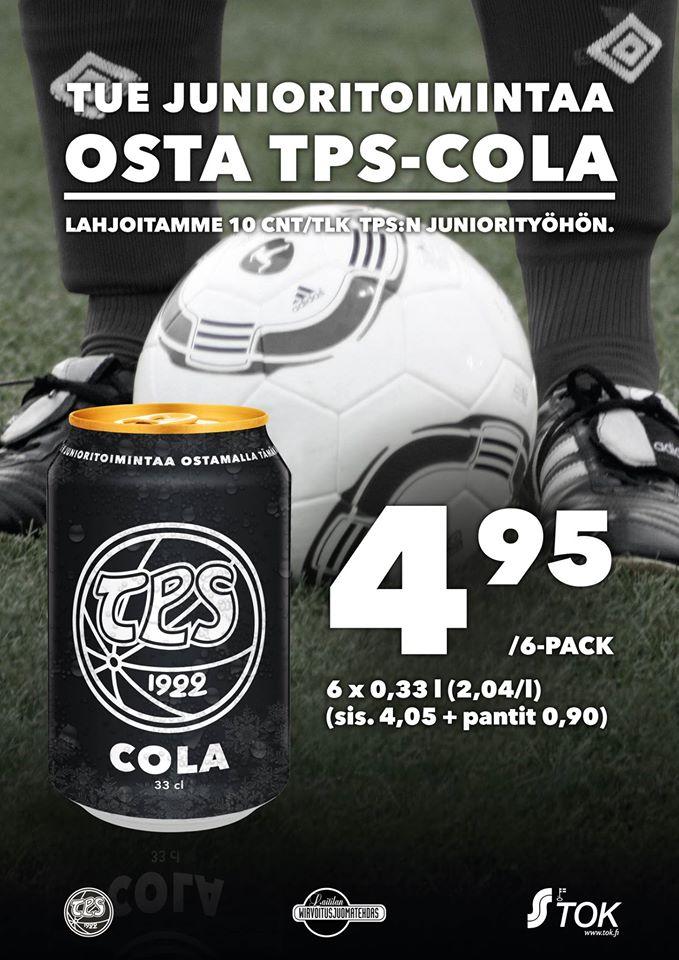 Tue Tepsiä! Osta TPS-colaa
