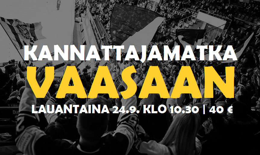 Kannattajamatka: Sport – TPS la 24.9.