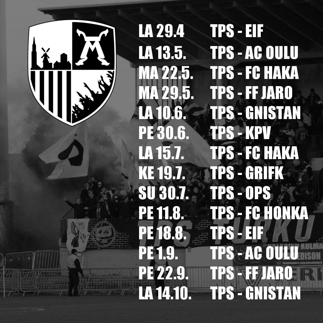 FC TPS otteluohjelma 2017