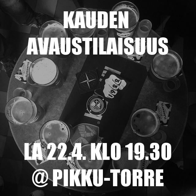 Kauden avaustilaisuus: Pikku-Torre la 22.4. klo 19.30