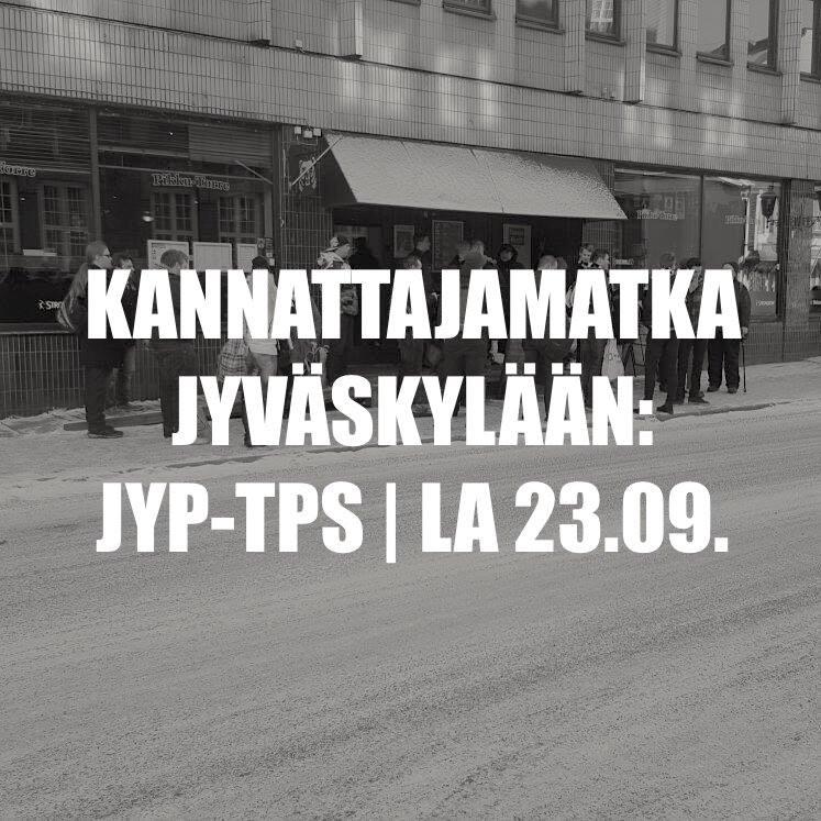Kannattajamatka: JYP – TPS lauantaina 23.9.