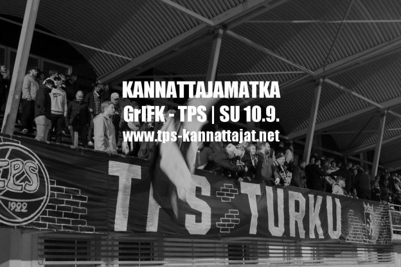 Kannattajamatka: GrIFK – TPS sunnuntaina 10.9.