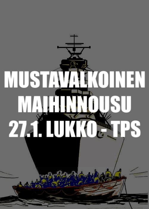 Mustavalkoinen maihinnousu: Lukko-TPS 27.1.2018