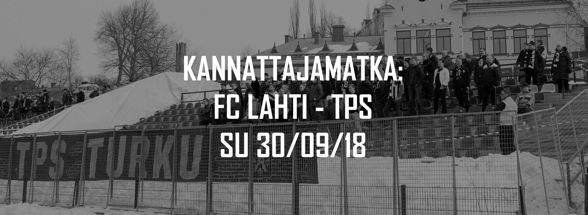 Kannattajamatka: FC Lahti – TPS sunnuntaina 30.9.