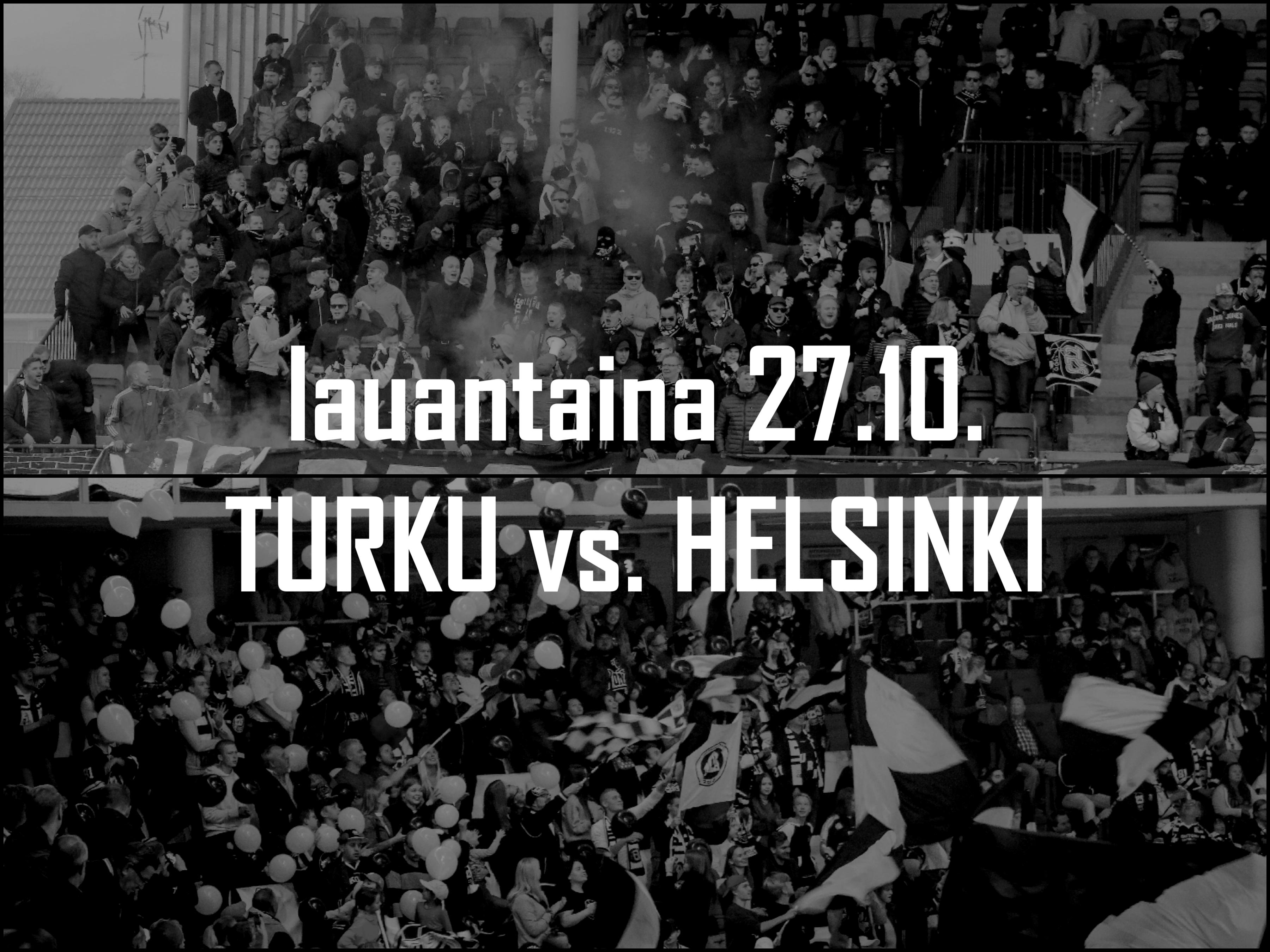 Tuplapelipäivä: Turku vs. Helsinki 27.10.