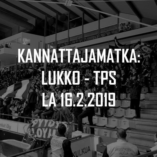 Kannattajamatka: Lukko – TPS 16.2.2019