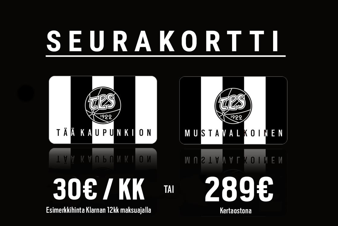 Seurakortti 2019 – TPS jalkapallon ja jääkiekon yhteiskausikortti