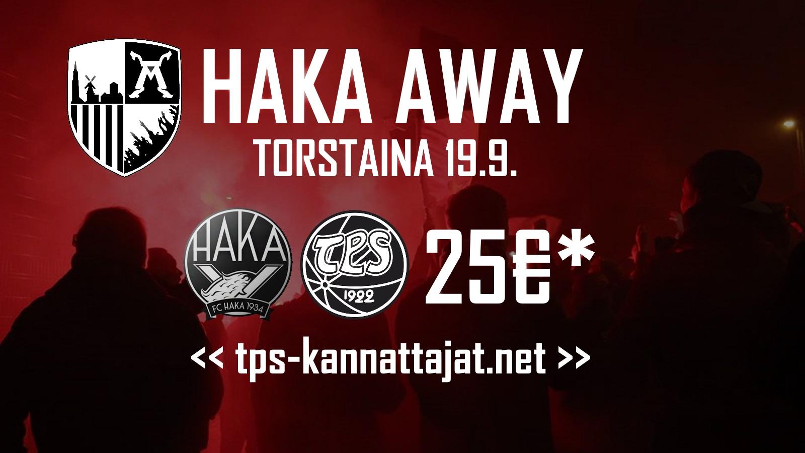 Kannattajamatka: FC Haka – TPS torstaina 19.9.