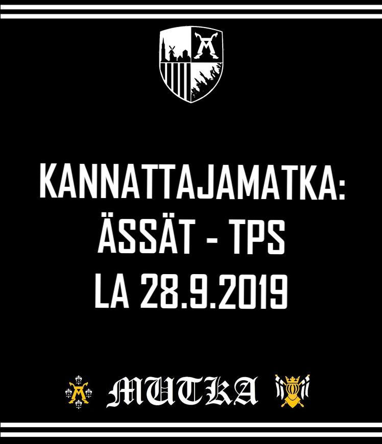 Kannattajamatka: Ässät – TPS 28.9.2019